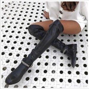NWOB ZARA over the knee boots sz36